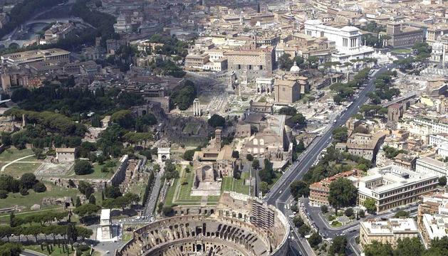 Vista aérea de la ciudad de Roma en 2011.