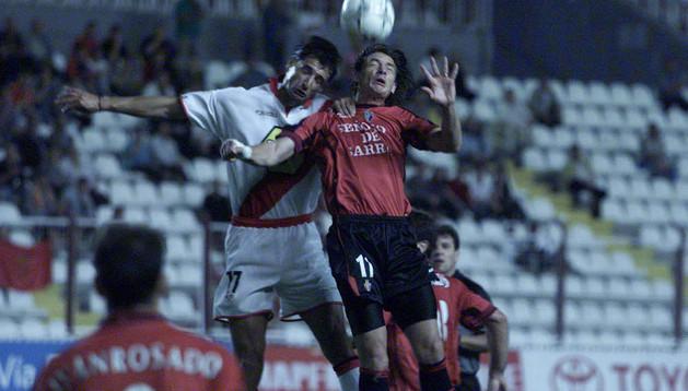 Armentano, en la última victoria rojilla en Vallecas en 2001