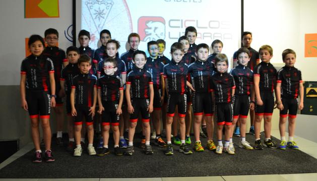 Miembros del Club Ciclista de Estella