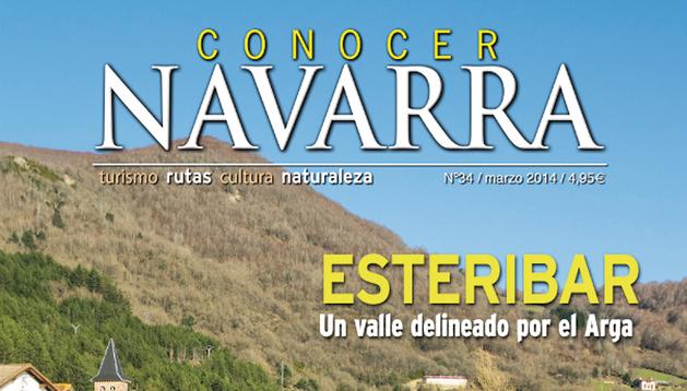 Portada de la revista 'Conocer Navarra' perteneciente al número de marzo de 2014