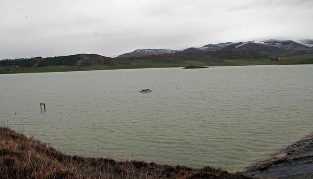 La balsa de Ezkoriz, entre Zolina (Aranguren) y Badostáin (Egüés)