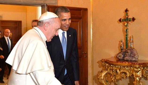 Primer encuentro de Obama y el papa Francisco