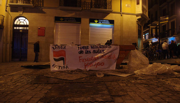 La Universidad Pública de Navarra vive este jueves una mañana marcada por los incidentes ante una huelga contra la reforma educativa respaldada por una parte de los estudiantes.