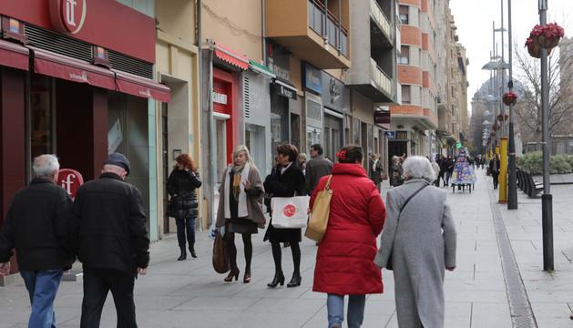 Carlos III, una de las calles más comerciales de Pamplona.