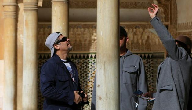 El actor Benicio del Toro en la Alhambra
