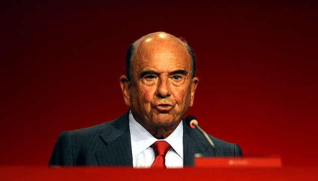 Emilio Botín en la Junta de Accionistas 2014