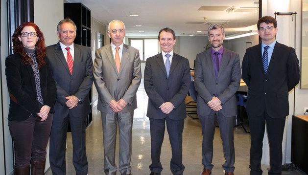 Maite Muruzábal, Jesús Sarasa, Francisco Arrarás, Julio Lafuente, Alfonso Carlosena y Alberto Enrique