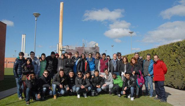 Los estudiantes que visitaron Rockwool