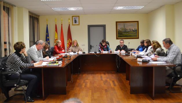 Imagen de los corporativos durante el pleno que tuvo lugar en Mendavia el pasado jueves