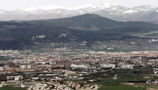 Vista de Pamplona desde El Perdón