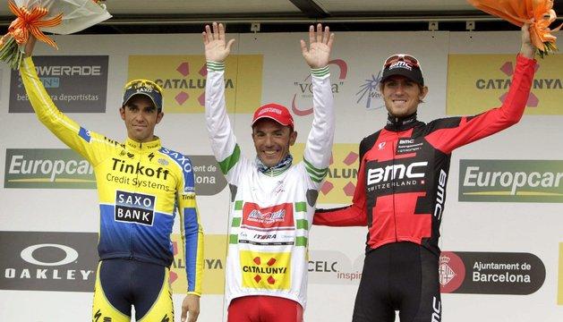 Contador, Purito y Van Garderen