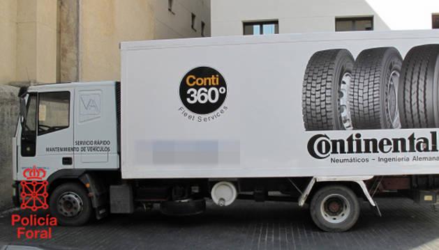 El camión sustraido