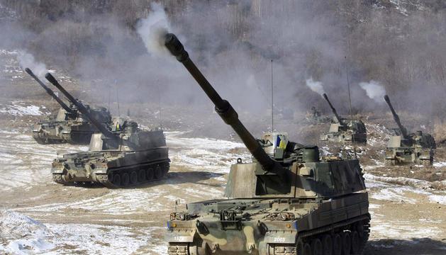 Maniobras militares en Corea del Sur en una fecha indeterminada
