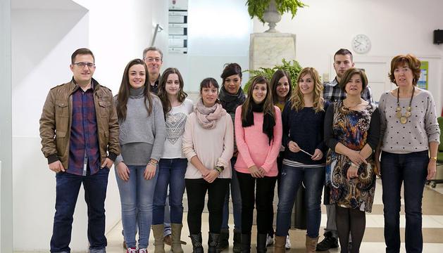 Los alumnos de Trabajo Social, en el Ayuntamiento.