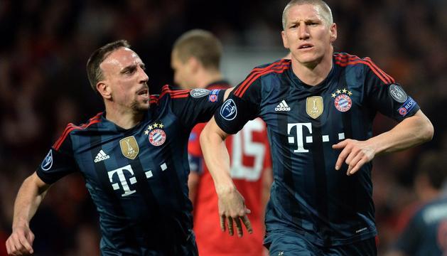 Ribery y Schweinsteiger