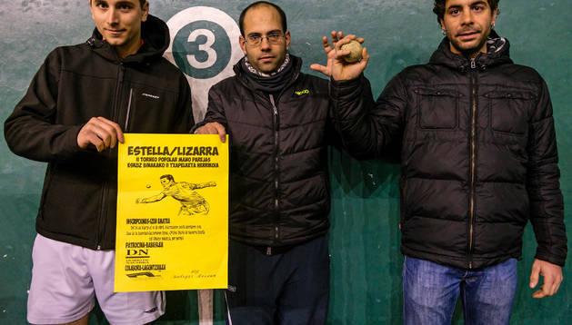 Mikel Sánchez González, Haritz Crespo Leoné y Egoitz Fraile Leoné