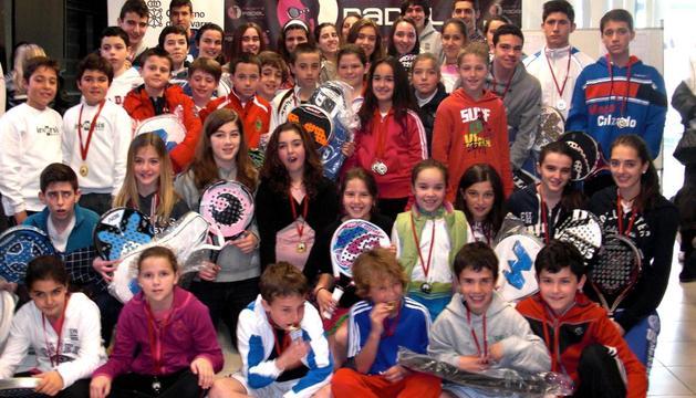 Participantes en la segunda prueba del Circuito Navarro de Menores