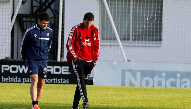 Marc Bertrán y Javi Gracia, en Tajonar.