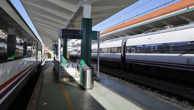 Estación de tren de Pamplona.
