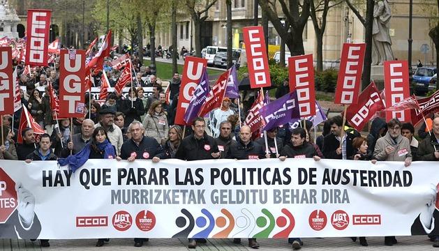 Manifestación contra las políticas de austeridad de la UE