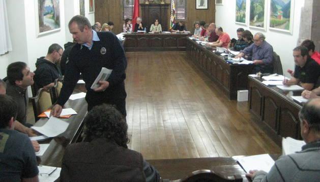 Imagen de la junta general de Baztan del pasado martes
