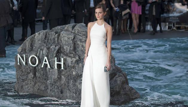 La actriz británica Emma Watson, en el preestreno de 'Noé' en Londres
