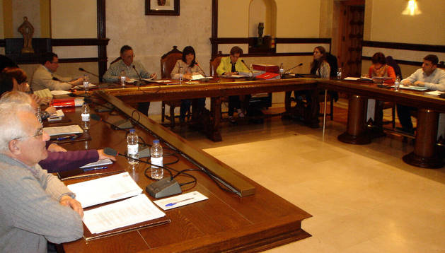 Instante del pleno del Ayuntamiento de Cintruénigo celebrado el pasado martes
