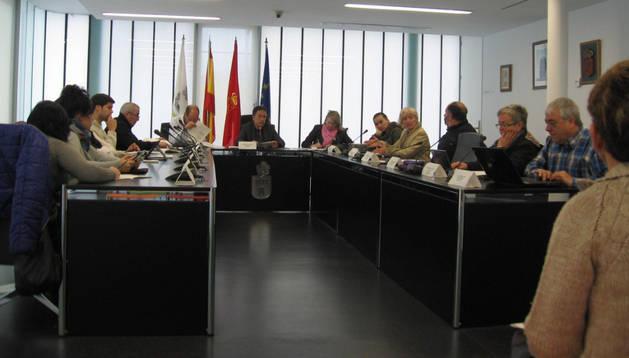 Aspecto de una sesión de pleno celebrada en Noáin