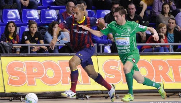 Imagen del Barça-Xota de la primera vuelta