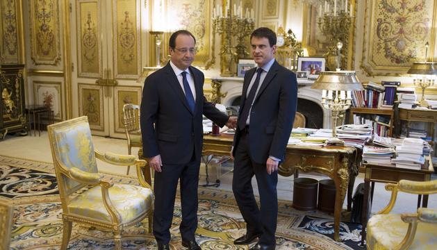 François Hollande y su primer ministro, Manuel Valls.