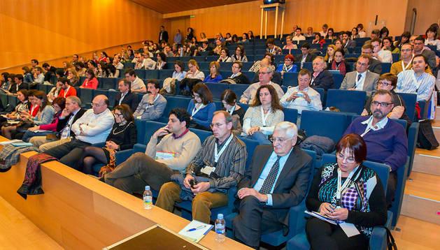 Asistentes al Congreso de la Sociedad Española de Diabetes que se celebra en Pamplona