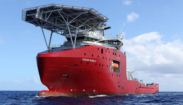 Uno de los buques que participan en la búsqueda.