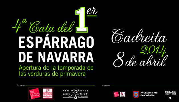 Cartel de la Cata del Primer Espárrago de Navarra