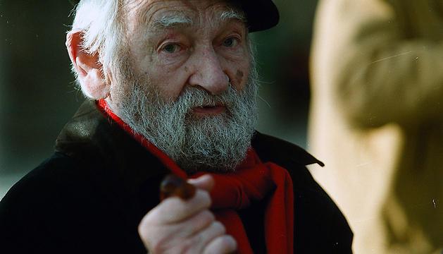 El escultor de Orio, en una imagen de 1999
