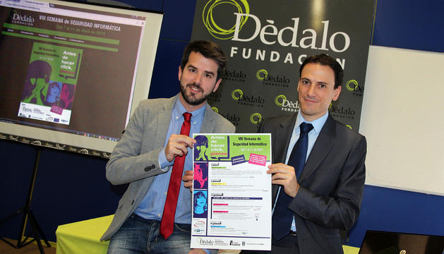 De izda. a dcha.: Joaquim Torrents y Rodrigo Zardoya, presidente y director de Dédalo, respectivamente.