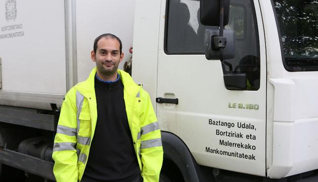 Txomin Elgorriaga, técnico del servicio mancomunado de residuos