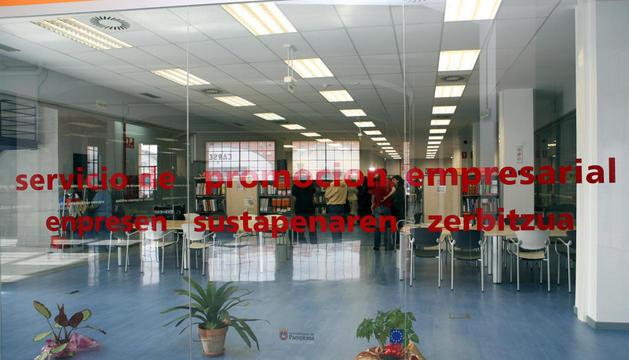 Entrada a las instalaciones del Servicio de Promoción Empresarial
