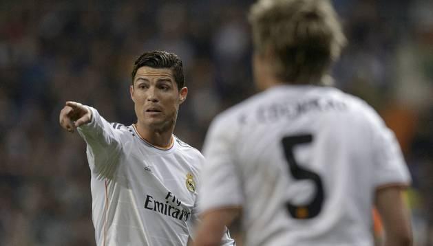 Cristiano, en el partido de ida ante el Borussia