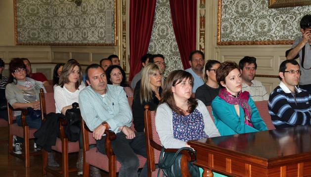 Emprendedores asistentes al acto celebrado en el Ayuntamiento de Tudela.