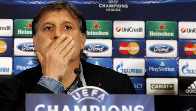 El Tata Martino, en la rueda de prensa previa al partido frente al Atlético
