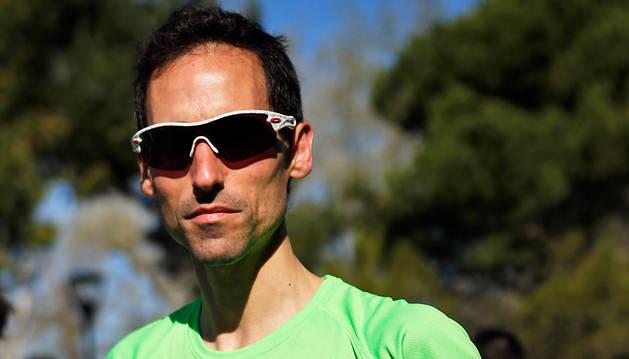 Etxeberria corrió el domingo su primera carrera tras el accidente.