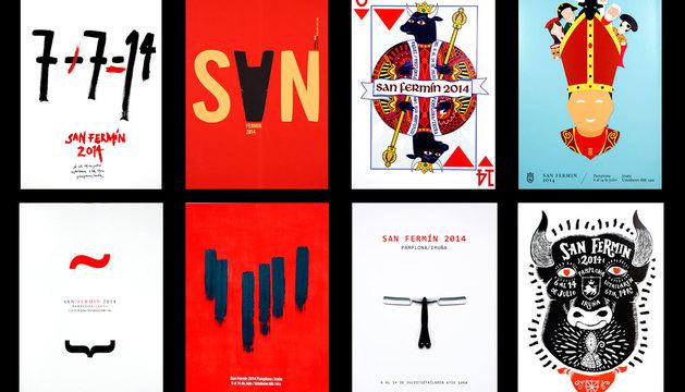 Ocho carteles finalistas de San Fermín 2014