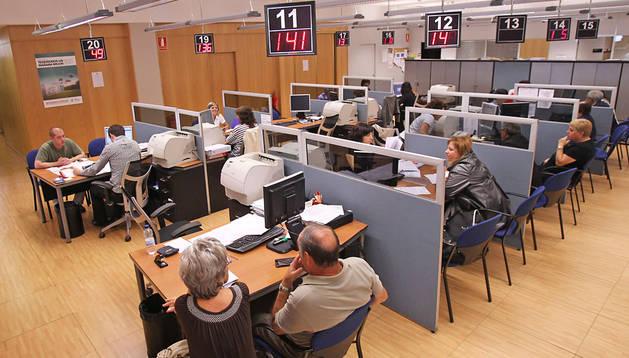 Oficinas de la Hacienda foral en una campaña del IRPF anterior