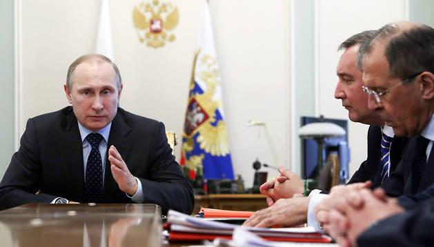 Putin, reunido este miércoles en su residencia de Novo-Ogaryovo