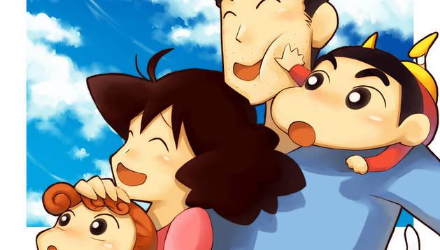 Imagen de los protagonistas de la serie de dibujos 'Shin Chan'