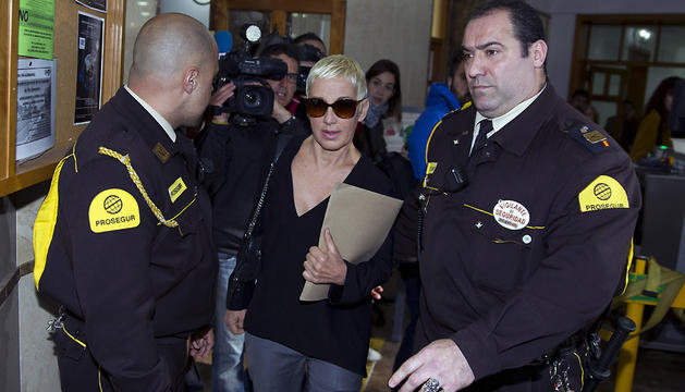 La cantante Ana Torroja, a su llegada a los Juzgados de Palma este miércoles