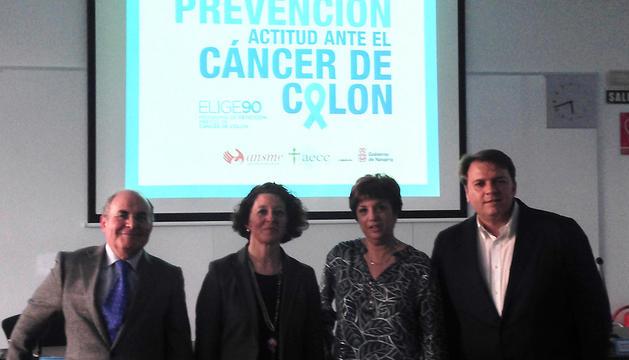 De izda. a dcha.: Francisco Arasanz, Ruth Vera, Nieves Ascunce y Miguel Ángel Ugarte