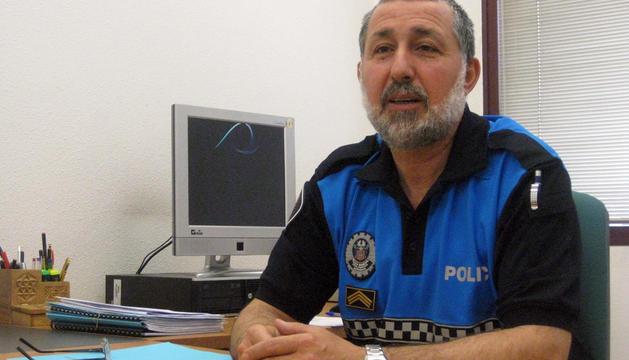 Juan Antonio Castro, jefe de la Policía Municipal de Barañáin