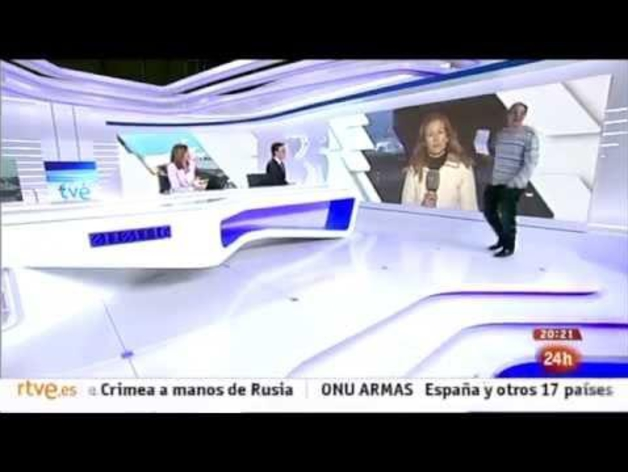 Un espontáneo se cuela en el Telediario de TVE