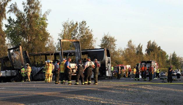 El autobús siniestrado transportaba a un grupo de estudiantes de secundaria del área metropolitana de Los Ángeles.